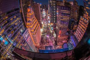 The Night Before New Year's Eve High Above Times Square