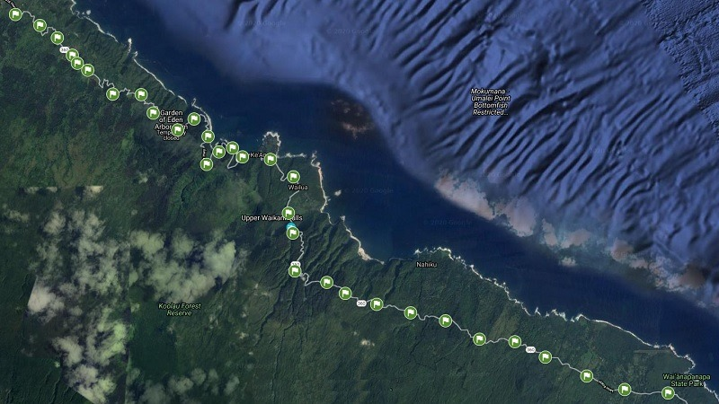 Road to Hana Map MM