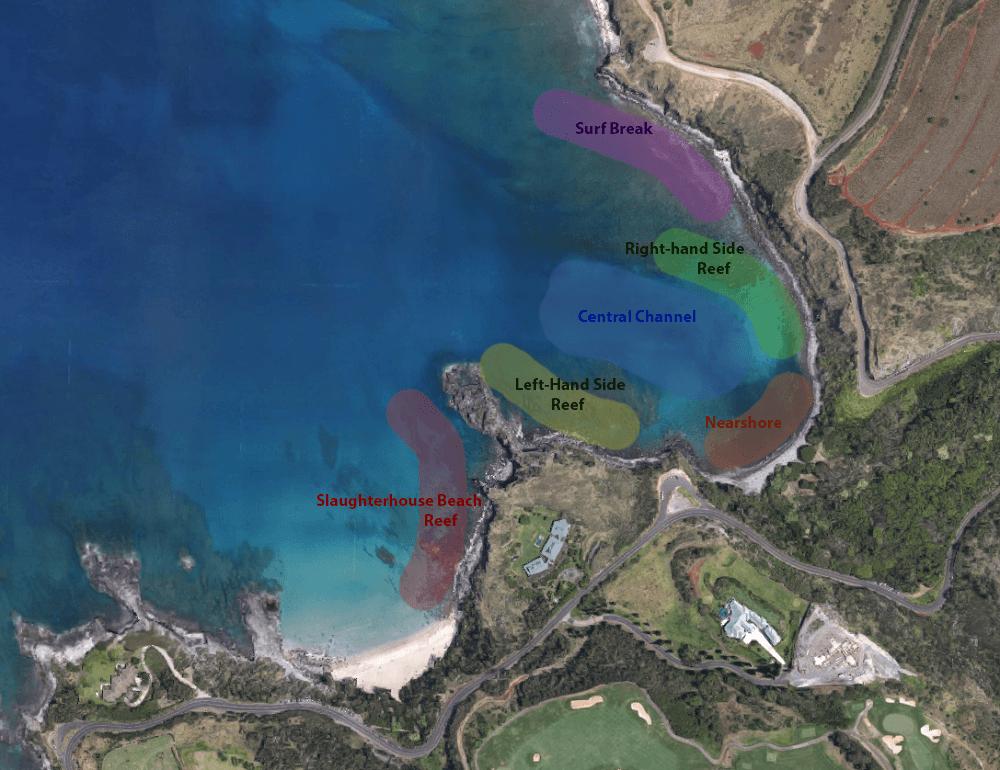 Honolua Bay map