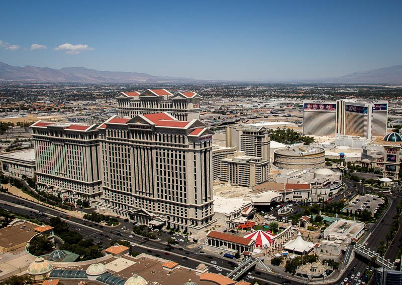 View from Eiffel Tower Caesars