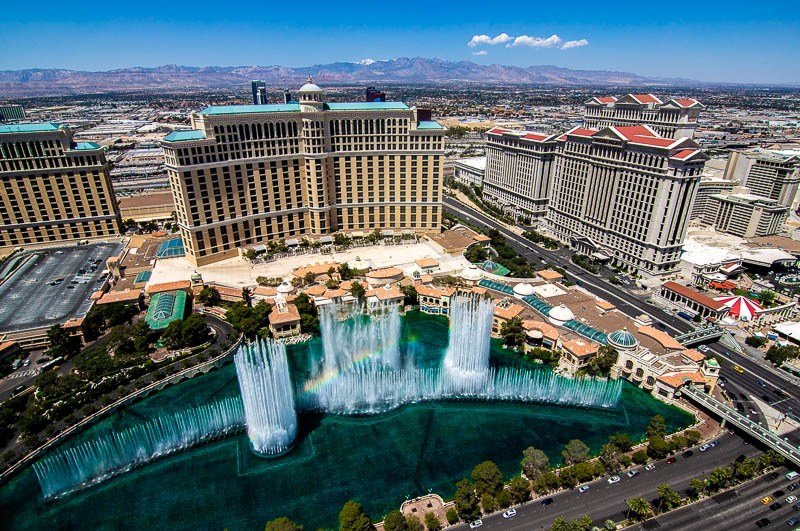 View fro Eiffel Tower Bellagio Fountains