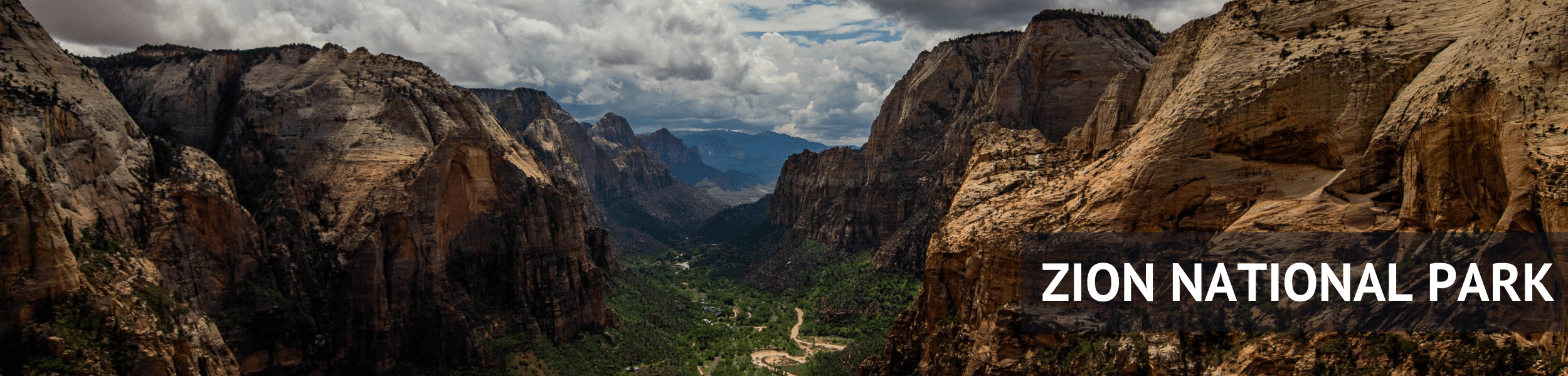 Zion National Park Header