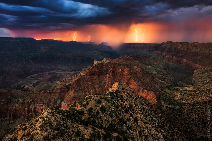 Lightning at the Grand Canyon
