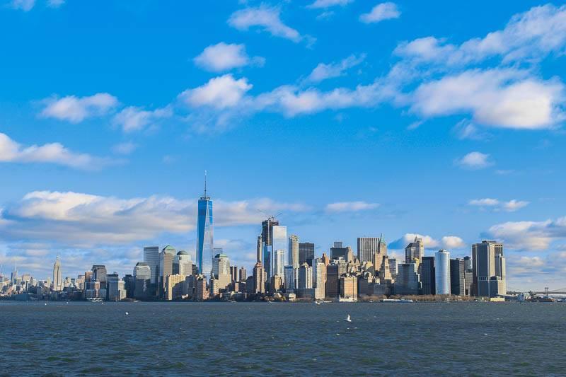 Manhattan Skyline From Statue