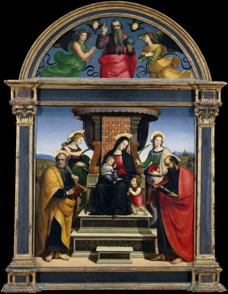 Madonna and Child Enthroned with Saints - Raphael