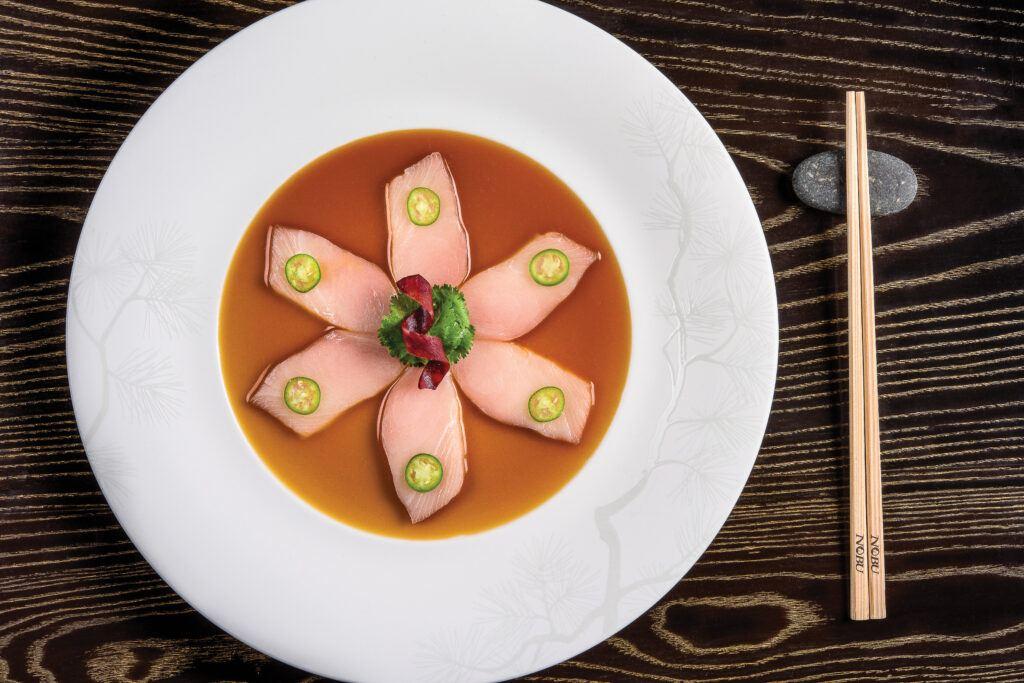 Nobu Restaurant Las Vegas Yellow Tail Sashimi with Jalapeno