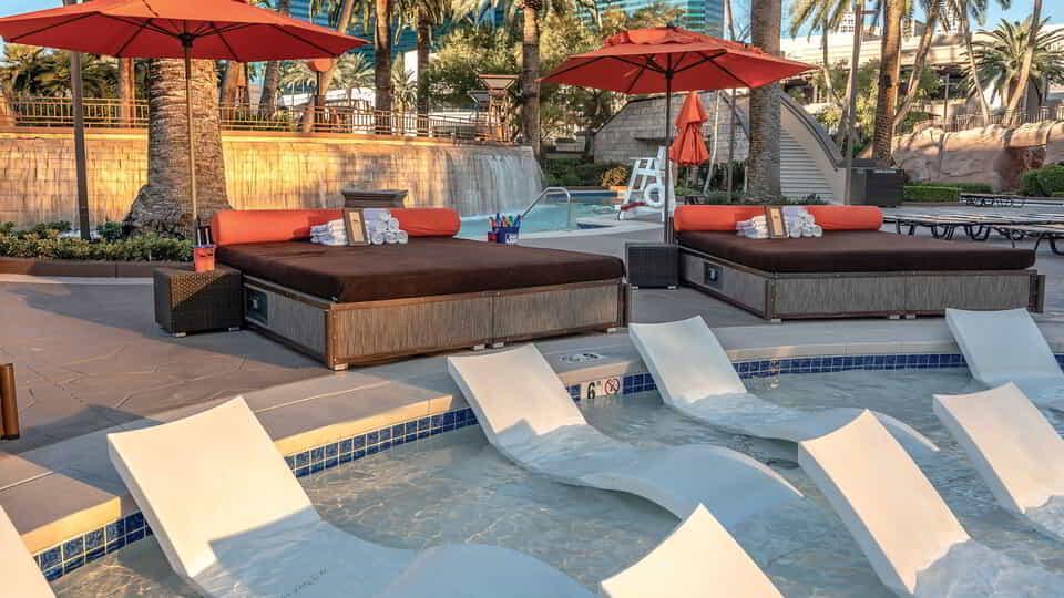 mgm grand pool complex pool chair