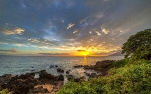 Kamaole Beach headland